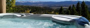 hot tub view mountains